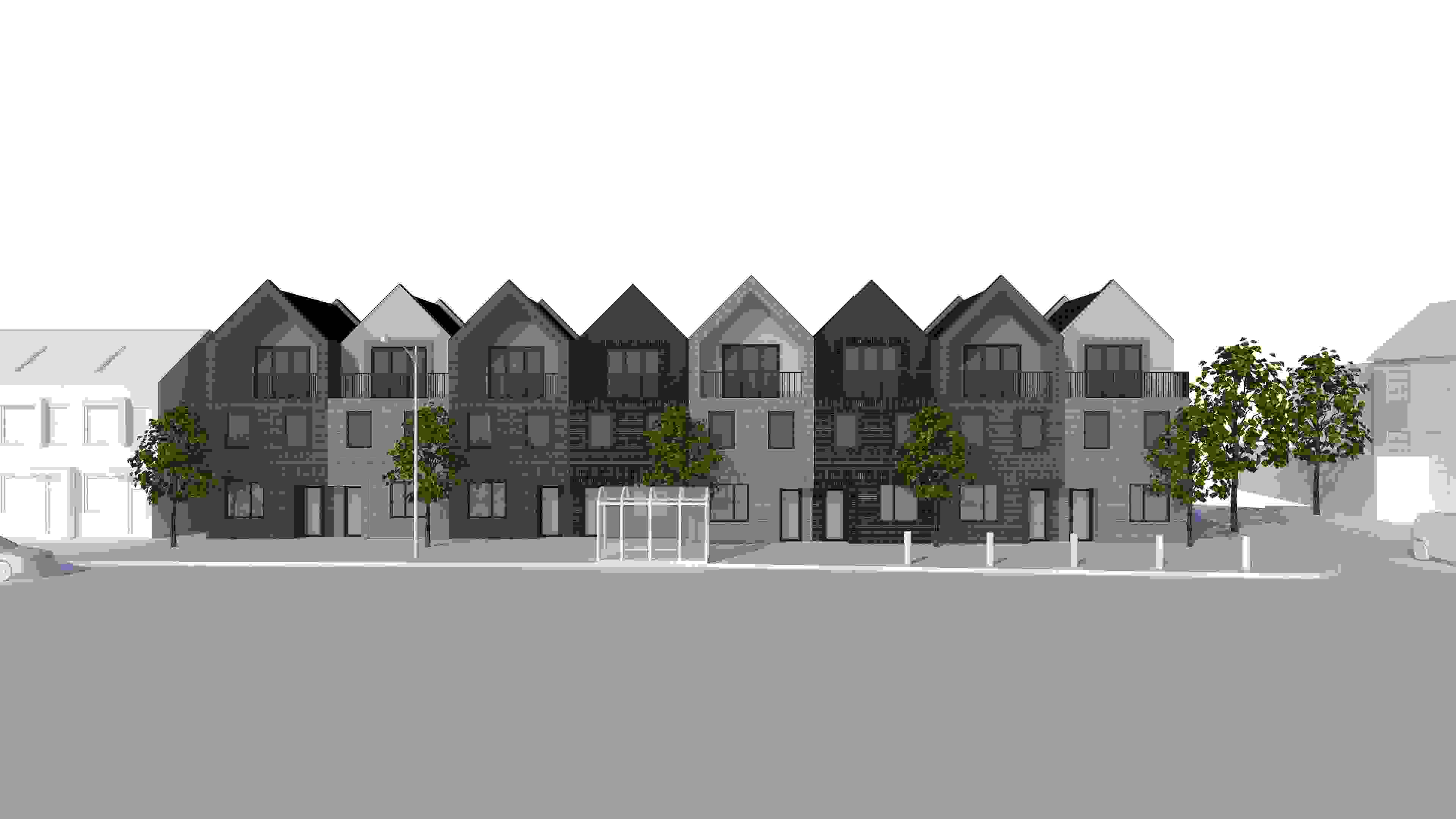 8 New Terraced Houses on 1379-1387 London Road, Leigh on Sea, Essex