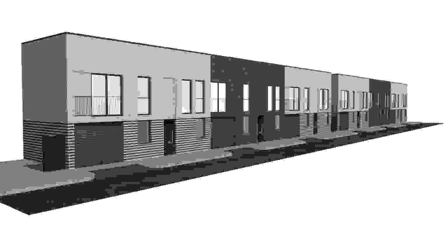 6 no. residential town houses on the site of an open air car wash, 315 Station Road, Westcliff on Sea - Planning appeal allowed and planning permission granted
