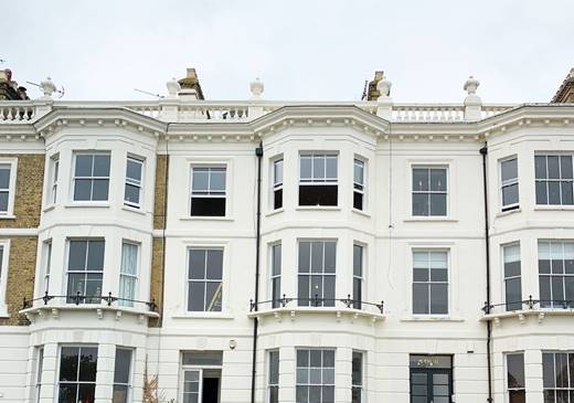 Work in progress at Grade 2 listed No.3 Clifton Terrace, Southend on Sea